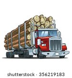 logging truck isolated on white ... | Shutterstock .eps vector #356219183