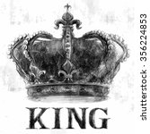 king crown tee graphic | Shutterstock .eps vector #356224853