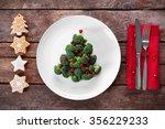 christmas fir tree made from... | Shutterstock . vector #356229233