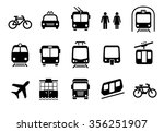 a set of transportation icons... | Shutterstock .eps vector #356251907