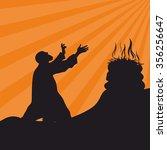 worship  prayer. the altar of... | Shutterstock .eps vector #356256647