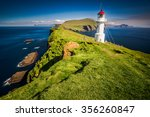 lighthouse  mykines  faroe... | Shutterstock . vector #356260847