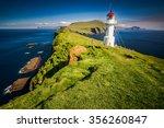 lighthouse in faroe islands | Shutterstock . vector #356260847