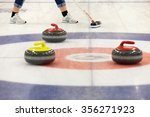 a two curling stone on the ice... | Shutterstock . vector #356271923