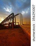 oil pipeline  the oil industry...   Shutterstock . vector #356293307