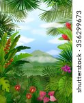 mountains landscape of tropical ... | Shutterstock . vector #356299673