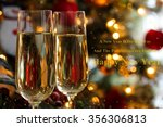 champagne glasses with new year ... | Shutterstock . vector #356306813