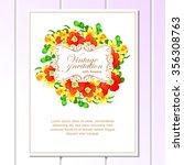 vintage delicate invitation... | Shutterstock . vector #356308763