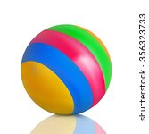 Kids Bright  Striped Ball On A...
