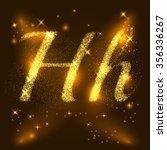 alphabets h of gold glittering...   Shutterstock .eps vector #356336267