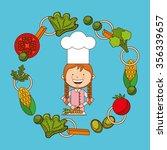 kids cooking design  vector... | Shutterstock .eps vector #356339657