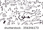 hand drawn doodle seamless... | Shutterstock .eps vector #356346173