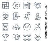 business icon set suitable for... | Shutterstock .eps vector #356348207