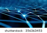 blue virtual technology... | Shutterstock . vector #356363453