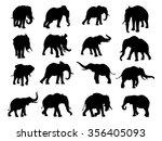a set of elephants in...