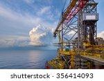 an offshore crane on oil... | Shutterstock . vector #356414093