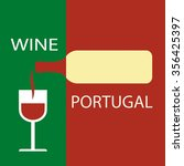 poster portugal wine on the... | Shutterstock .eps vector #356425397