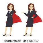 super businesswoman in... | Shutterstock .eps vector #356438717