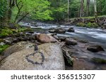 spring greens along the little... | Shutterstock . vector #356515307