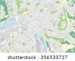 vector city map of rouen  france | Shutterstock .eps vector #356533727