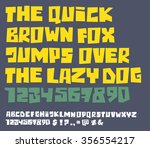 funny square bold font with...   Shutterstock .eps vector #356554217