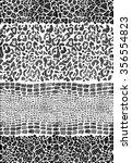 seamless animal skin striped... | Shutterstock .eps vector #356554823