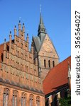 Stock photo market church and old town hall in hannover germany 356564027