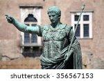 statue s.p.q.r. imp caesar... | Shutterstock . vector #356567153