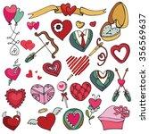 valentine's day hearts... | Shutterstock . vector #356569637