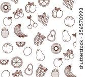 tropical fruit design  vector... | Shutterstock .eps vector #356570993