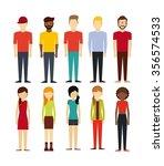 people walking design  vector... | Shutterstock .eps vector #356574533