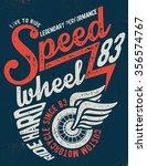 motorcycle typography  t shirt... | Shutterstock .eps vector #356574767