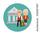 pension funding graphic design  ... | Shutterstock .eps vector #356587487
