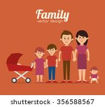 family colorful cartoon graphic ... | Shutterstock .eps vector #356588567