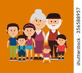 family colorful cartoon graphic ...   Shutterstock .eps vector #356588957