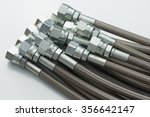 stainless steel hydraulic hoses ... | Shutterstock . vector #356642147