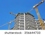 crane and building construction ... | Shutterstock . vector #356644733