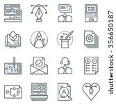 design icon set suitable for... | Shutterstock .eps vector #356650187