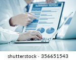 business people discussing the...   Shutterstock . vector #356651543