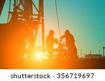 oil drilling exploration  the... | Shutterstock . vector #356719697