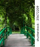 The Bridge In Claude Monet...