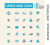 cards  cash  money  payment ... | Shutterstock .eps vector #356735423