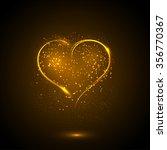 starry heart | Shutterstock .eps vector #356770367