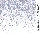 confetti falling backdrop. rose ... | Shutterstock .eps vector #356834453