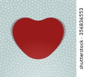 valentines day realistic red... | Shutterstock . vector #356836553