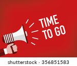 time to go | Shutterstock .eps vector #356851583