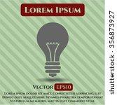 light bulb vector icon or symbol | Shutterstock .eps vector #356873927