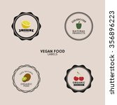 abstract organic food labels on ...