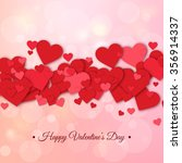 happy valentines day and... | Shutterstock .eps vector #356914337