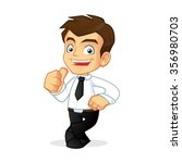 businessman leaning and giving... | Shutterstock .eps vector #356980703